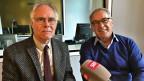 Die ehemaligen Bundesräte und Verkehrsminister Moritz Leuenberger (links) und Adolf Ogi.