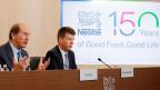 Nestlé CEO Paul Bulcke (links) und Finanzchef Francois-Xavier Roger.