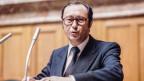 Der Neuenburger Pierre Aubert war von 1977 bis 1987 für die SP in der Landesregierung. Aufnahme von 1981.