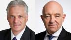 Die beiden Ständeräte Thomas Minder (links) und Daniel Jositsch im Streitgespräch über das Kroatienabkommen.