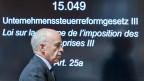 Der Finanzminister Ueli Maurer an der Ständeratssitzung zum Unternehmenssteuerreform-Gesetz III.