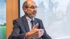 Jacques Bourgeois, Direktor Schweizerischer Bauernverband (SBV), informiert über das Pilotprojekt «Flüchtlinge als Arbeitskraft in der Landwirtschaft».