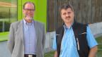 Urs Niederer, Direktor der Zentral- und Hochschulbibliothek Luzern (links) und Mike Märki, Geschäftsführer der neuen Speicherbibliothek).