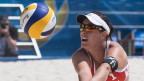 Isabelle Forrer an der Beachvolley Worldtour Major Series in Gstaad am 6. Juli 2016.