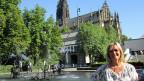 Jasna Milanovic beim Tinguely-Brunnen in Basel.