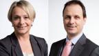 Elisabeth Schneider-Schneiter, Nationalrätin der CVP des Kantons Basel-Landschaft (links) und Claudio Zanetti, Nationalrat der SVP des Kantons Zürich.