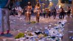 Die Initiative für eine «grüne Wirtschaft» will, dass der «ökologische Fussabdruck» verkleinert wird. Symbolbild Müll an der Street Parade in Zürich.