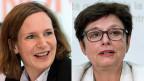 Ein Parteibuch - zwei entgegengesetzte Meinungen: SP-Nationalrätin Evi Allemann und SP-Ständerätin Anita Fetz.