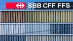 Blick an die Fassade des SBB-Hauptgebäudes in Bern Wankdorf.