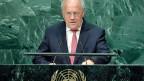 Bundesrat Johann Schneider-Ammann hält am UNO-Gipfel zu Antibiotika-Resistenzen in New York seine Rede.