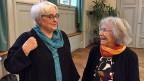 Zwei der Klimaseniorinnen: Die Anwältin Ursula Brunner und die 85-jährige Ruth Schaub.