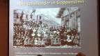 «Die Schulkinder in Goppenstein» steht über einem Foto aus dem Archiv der Ordensschwestern.