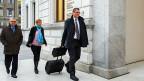 Warum ein Dieb dem Schweizer Geheimdienst hochsensible Daten geklaut hat – und was er hätte anrichten können. Bild: Bundesstrafgericht Bellinzona vor Prozessbeginn.