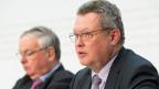 Urs Gasche, BDP-BE (rechts) an der Seite von Jean-Francois Rime, SVP-FR. Die bürgerlichen Parteien stehen geschlossen hinter der Unternehmenssteuerreform III.