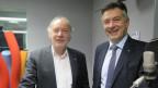 Das Bild zeigt den Zürcher SP-Nationalrat Thomas Hardegger und den Nidwaldner FDP-Ständerat Hans Wicki.