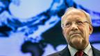 Bundespräsident Johann Schneider-Ammann an einem Point de Presse am 16. Dezember 2016.