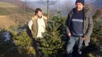 Paul Wälchli und seine Frau Pascale, Tannenbaum-Produzenten aus dem Emmental.