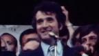 Francois Lachat, jurassischer Minister der ersten Stunde, hält am 24. September 1978 in Delémont eine Rede zur Feier der Gründung des Kantons Jura.