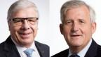 Peter Föhn, Ständerat der SVP des Kantons Schwyz (links) und Hans Stöckli, Ständerat der SP des Kantons Bern.
