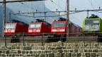 Es bräuchte eine zentrale Überwachung und klare Abmachungen unter den verschiedenen Bahn-Unternehmen. Lokomotiven in Erstfeld.