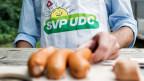 SVP Wahlveranstaltung im Sommer 2015 in Zürich.