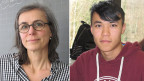 Lehrerin Esther Döpper und der Flüchtling Nabi aus Afghanistan. Sein Berufswunsch: Zahnarzt.