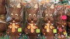 Schoggihasen gehören auf jeden Fall zu Ostern.