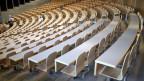 Der grosse Hörsaal «Audimax» der Hochschule St. Gallen.