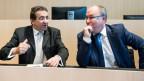 FDP-Finanzminister Pascal Broulis (links) und der SP-Sozialdirektor Pierre-Yves Maillard haben fünf Jahre die Regierung geführt.