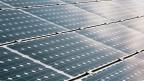 Photovoltaikanlage auf dem Dach der Messe Zürich. Symbolbild.