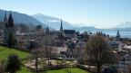 Sicht auf die Stadt Zug.