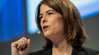 Parteipräsidentin und Nationalrätin Petra Gössi, an der Delegiertenversammlung der FDP. Die Liberalen, am 4. März 2017, in Fribourg.