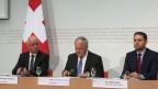 Bundesrat Johann Schneider-Ammann anlässlich der Medienkonferenz zur Ernährungssicherheit vom 29. Juni 2017.
