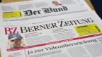 Zwei Zeitungen liegen übereinander - beide aus dem Hause Tameida.
