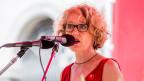 Corine Mauch, Stadtpräsidentin, hält die 1. August-Festansprache auf dem Bürkliplatz.