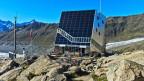 Solarpanel an der Monte Rosa-Hütte in Zermatt.