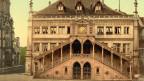 Zu sehen ist das Berner Rathaus in einer Aufnahme von ca. 1890.