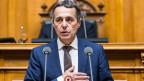 Ignazio Cassis nimmt die Wahl zum Bundesrat am 20. September 2017 an.