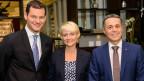 Pierre Maudet, Isabelle Moret und Ignazio Cassis (von links).
