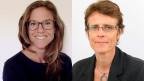 Maya Brehm (li.), internationales Netzwerk zu Explosivwaffen INEW und  Petra Schroeter, Geschäftsführerin von Handicap International.