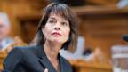 Für Verkehrsministerin Doris Leuthard wäre die elektronische Vignette ein angebrachter Technologiewechsel.
