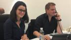 Catherine Morgenthaler mit Tobias Gasser, Produzent von «Echo der Zeit».