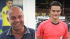 Patrick Graf, beim schweiz. Fussballverband zuständig für Schiedsrichter (links) und Gian Gfeller, Jung-Schiedsrichter.