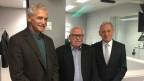 Zu sehen sind von links nach rechts: Oswald Sigg, Lieni Füglistaller und Carlo Schmid.