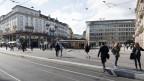 Sicht auf den Paradeplatz in Zürich.