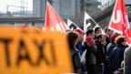 Proteste gegen den Uber-Fahrdienst in Bern.
