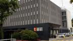 RTSI ist der zweitgrösste Arbeitgeber im Tessin und bietet 1100 Arbeitsplätze. Aussenansicht des TV Centers in Comano TI.