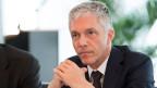 Bundesanwalt Michael Lauber während eine Medienkonferenz des Tätigkeitsbericht 2016 der Bundesanwaltschaft, am 5. April 2017 im Bernerhof in Bern.