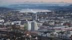 Blick auf die Stadt Zürich.