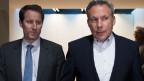 Der neue und der alte SVP-Fraktionspräsident: Thomas Aeschi (links) und Adrian Amstutz.